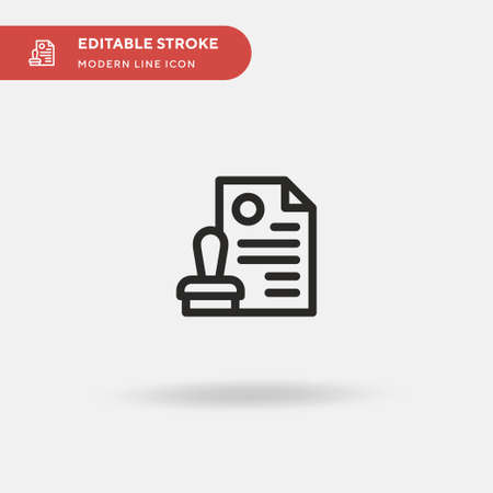 Approve Simple vector icon. Illustration symbol design template for web mobile UI element. Perfect color modern pictogram on editable stroke. Approve icons for your business project
