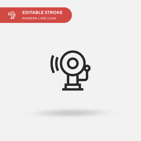 Bell Simple vector icon. Illustration symbol design template for web mobile UI element. Perfect color modern pictogram on editable stroke. Bell icons for your business project