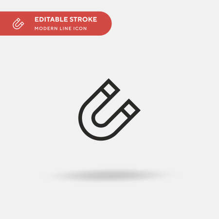 Magnetism Simple vector icon. Illustration symbol design template for web mobile UI element. Perfect color modern pictogram on editable stroke. Magnetism icons for your business project