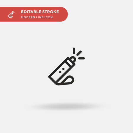 Flashlight Simple vector icon. Illustration symbol design template for web mobile UI element. Perfect color modern pictogram on editable stroke. Flashlight icons for your business project