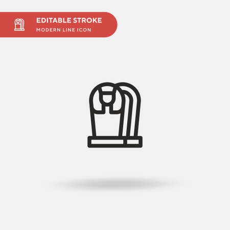 Sarcophagus Simple vector icon. Illustration symbol design template for web mobile UI element. Perfect color modern pictogram on editable stroke. Sarcophagus icons for your business project