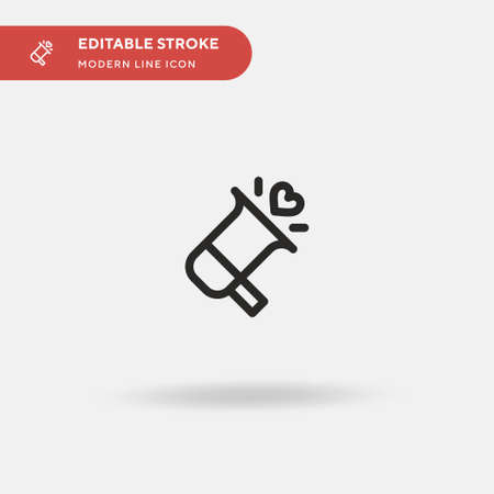 Megaphone Simple vector icon. Illustration symbol design template for web mobile UI element. Perfect color modern pictogram on editable stroke. Megaphone icons for your business project 向量圖像