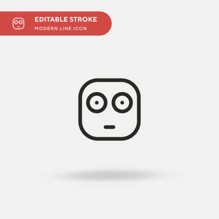 Embarrassed Simple vector icon. Illustration symbol design template for web mobile UI element. Perfect color modern pictogram on editable stroke. Embarrassed icons for your business project