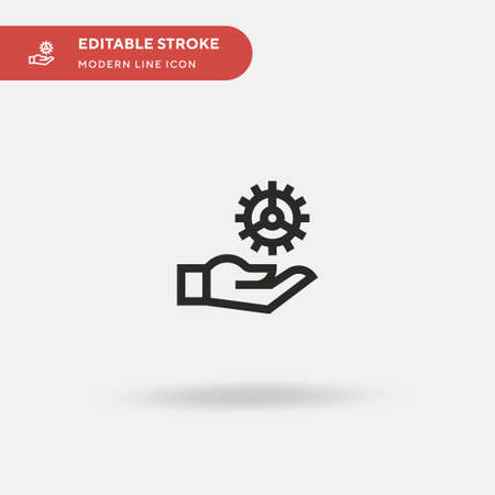 Gear Simple vector icon. Illustration symbol design template for web mobile UI element. Perfect color modern pictogram on editable stroke. Gear icons for your business project
