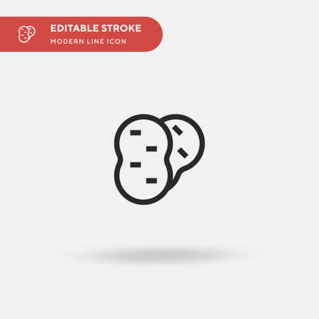 Potato Simple vector icon. Illustration symbol design template for web mobile UI element. Perfect color modern pictogram on editable stroke. Potato icons for your business project