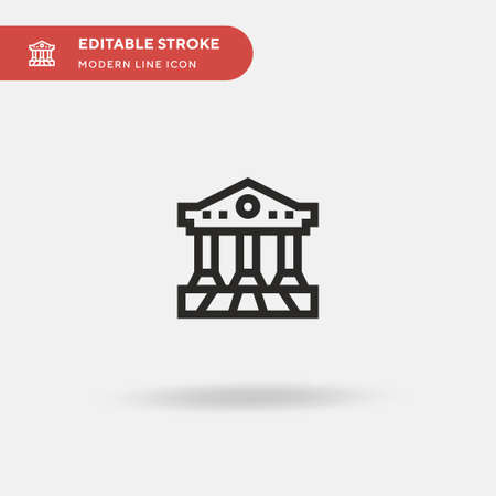 Parthenon Simple vector icon. Illustration symbol design template for web mobile UI element. Perfect color modern pictogram on editable stroke. Parthenon icons for your business project Vecteurs