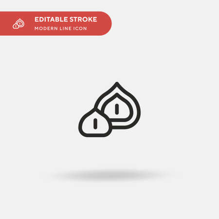 Macadamia Nut Simple vector icon. Illustration symbol design template for web mobile UI element. Perfect color modern pictogram on editable stroke. Macadamia Nut icons for your business project