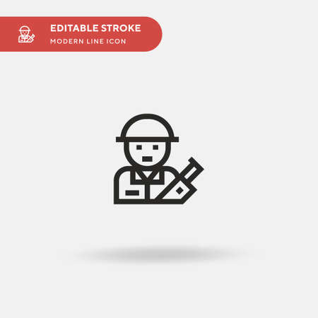 Soldier Simple vector icon. Illustration symbol design template for web mobile UI element. Perfect color modern pictogram on editable stroke. Soldier icons for your business project Иллюстрация