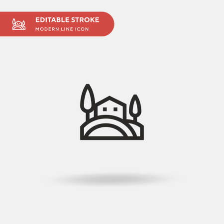 Tuscany Simple vector icon. Illustration symbol design template for web mobile UI element. Perfect color modern pictogram on editable stroke. Tuscany icons for your business project