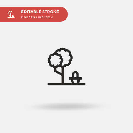 Picnic Simple vector icon. Illustration symbol design template for web mobile UI element. Perfect color modern pictogram on editable stroke. Picnic icons for your business project Illusztráció