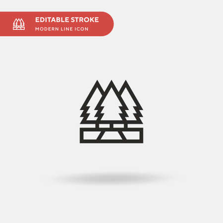 Forest Simple vector icon. Illustration symbol design template for web mobile UI element. Perfect color modern pictogram on editable stroke. Forest icons for your business project