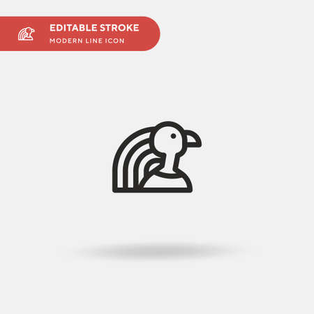 Horus Simple vector icon. Illustration symbol design template for web mobile UI element. Perfect color modern pictogram on editable stroke. Horus icons for your business project 일러스트