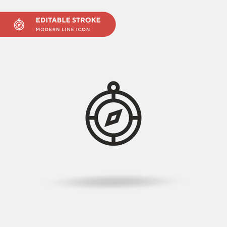 Compass Simple vector icon. Illustration symbol design template for web mobile UI element. Perfect color modern pictogram on editable stroke. Compass icons for your business project 向量圖像