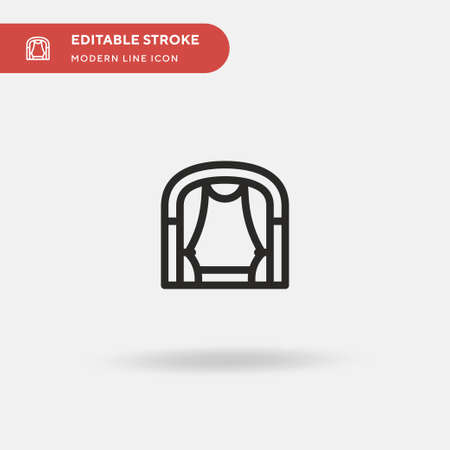 Stage Simple vector icon. Illustration symbol design template for web mobile UI element. Perfect color modern pictogram on editable stroke. Stage icons for your business project