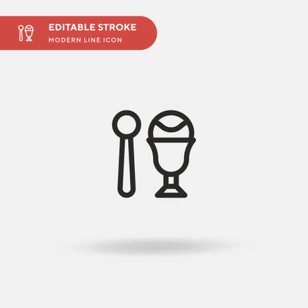 Ice Cream Cup Simple vector icon. Illustration symbol design template for web mobile UI element. Perfect color modern pictogram on editable stroke. Ice Cream Cup icons for your business project