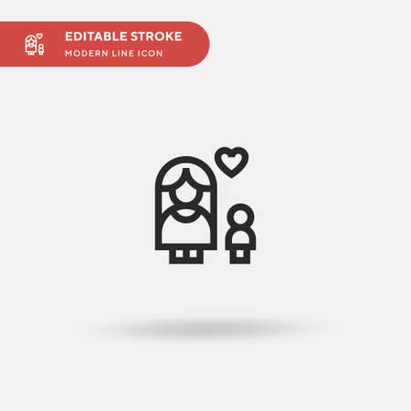 Mother Simple vector icon. Illustration symbol design template for web mobile UI element. Perfect color modern pictogram on editable stroke. Mother icons for your business project Ilustracja