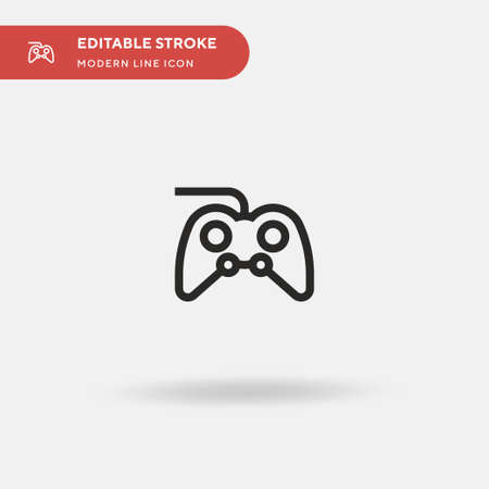 Gamepad Simple vector icon. Illustration symbol design template for web mobile UI element. Perfect color modern pictogram on editable stroke. Gamepad icons for your business project