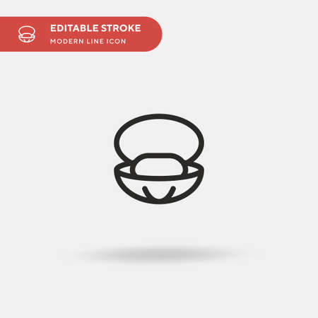 Oyster Simple vector icon. Illustration symbol design template for web mobile UI element. Perfect color modern pictogram on editable stroke. Oyster icons for your business project