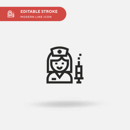 Nurse Simple vector icon. Illustration symbol design template for web mobile UI element. Perfect color modern pictogram on editable stroke. Nurse icons for your business project