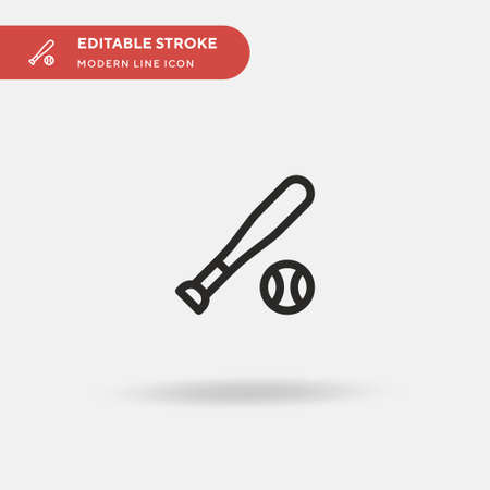 Baseball Simple vector icon. Illustration symbol design template for web mobile UI element. Perfect color modern pictogram on editable stroke. Baseball icons for your business project Ilustracja