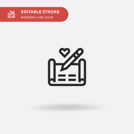Marriage Simple vector icon. Illustration symbol design template for web mobile UI element. Perfect color modern pictogram on editable stroke. Marriage icons for your business project Vettoriali