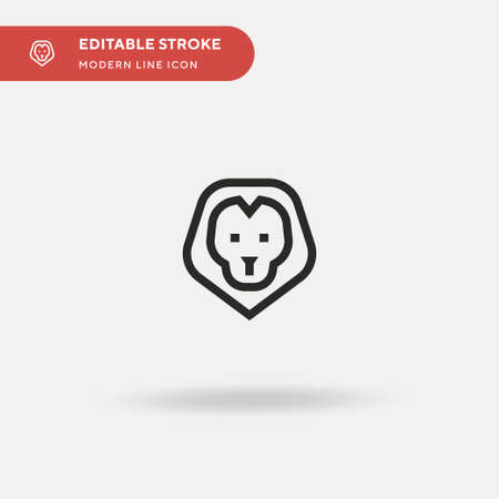 Lion Simple vector icon. Illustration symbol design template for web mobile UI element. Perfect color modern pictogram on editable stroke. Lion icons for your business project Vektorové ilustrace