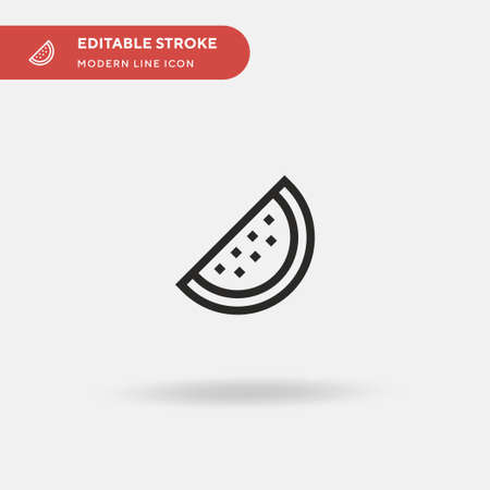 Watermelon Simple vector icon. Illustration symbol design template for web mobile UI element. Perfect color modern pictogram on editable stroke. Watermelon icons for your business project