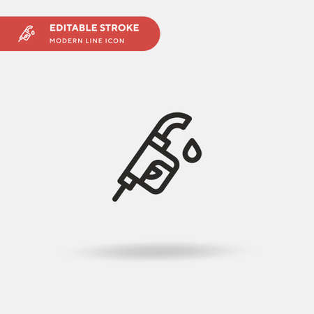 Pump Simple vector icon. Illustration symbol design template for web mobile UI element. Perfect color modern pictogram on editable stroke. Pump icons for your business project