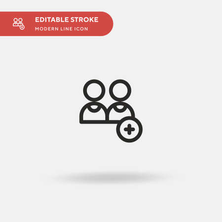 Add User Simple vector icon. Illustration symbol design template for web mobile UI element. Perfect color modern pictogram on editable stroke. Add User icons for your business project 向量圖像