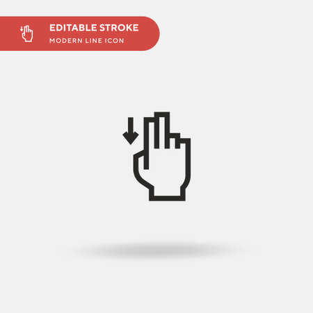 Down Simple vector icon. Illustration symbol design template for web mobile UI element. Perfect color modern pictogram on editable stroke. Down icons for your business project