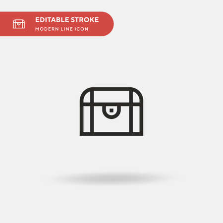 Chest Simple vector icon. Illustration symbol design template for web mobile UI element. Perfect color modern pictogram on editable stroke. Chest icons for your business project Vector Illustration