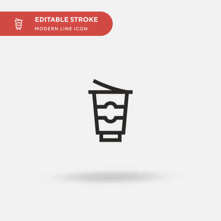 Yogurt Simple vector icon. Illustration symbol design template for web mobile UI element. Perfect color modern pictogram on editable stroke. Yogurt icons for your business project Illustration