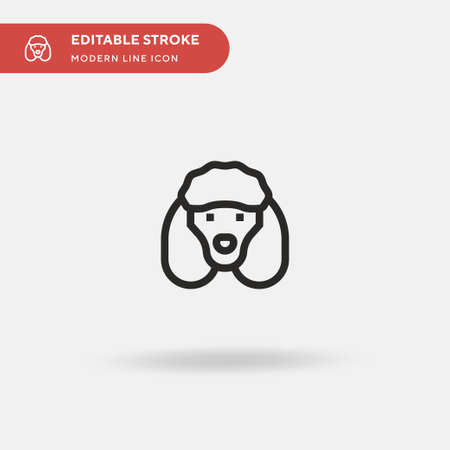 Poodle Simple vector icon. Illustration symbol design template for web mobile UI element. Perfect color modern pictogram on editable stroke. Poodle icons for your business project