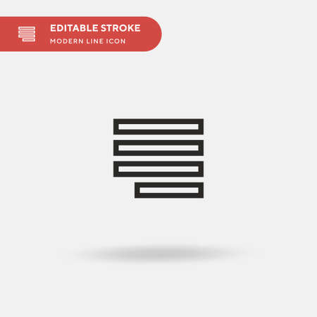 Right Alignment Simple vector icon. Illustration symbol design template for web mobile UI element. Perfect color modern pictogram on editable stroke. Right Alignment icons for your business project Illustration