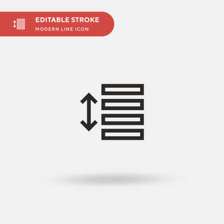 Line Spacing Simple vector icon. Illustration symbol design template for web mobile UI element. Perfect color modern pictogram on editable stroke. Line Spacing icons for your business project