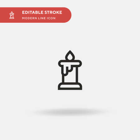 Candle Simple vector icon. Illustration symbol design template for web mobile UI element. Perfect color modern pictogram on editable stroke. Candle icons for your business project