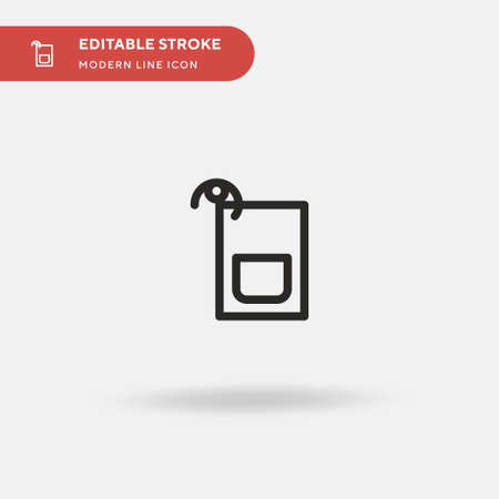 Sazerac Simple vector icon. Illustration symbol design template for web mobile UI element. Perfect color modern pictogram on editable stroke. Sazerac icons for your business project Vectores