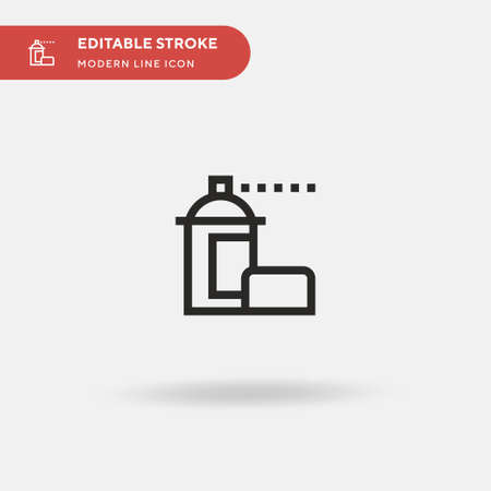Paint Simple vector icon. Illustration symbol design template for web mobile UI element. Perfect color modern pictogram on editable stroke. Paint icons for your business project Ilustração