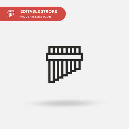 Flute Simple vector icon. Illustration symbol design template for web mobile UI element. Perfect color modern pictogram on editable stroke. Flute icons for your business project Vectores