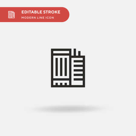 Office Building Simple vector icon. Illustration symbol design template for web mobile UI element. Perfect color modern pictogram on editable stroke. Office Building icons for your business project