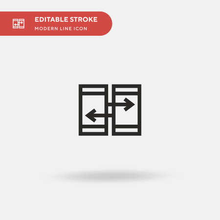 Data Simple vector icon. Illustration symbol design template for web mobile UI element. Perfect color modern pictogram on editable stroke. Data icons for your business project