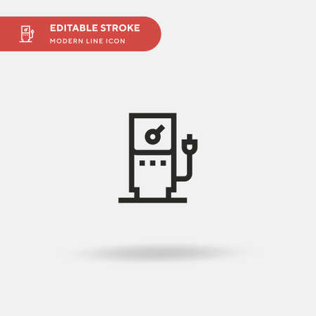 Gas Station Simple vector icon. Illustration symbol design template for web mobile UI element. Perfect color modern pictogram on editable stroke. Gas Station icons for your business project
