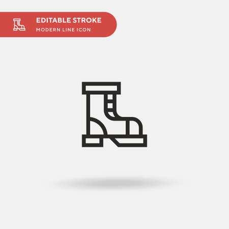 Boot Simple vector icon. Illustration symbol design template for web mobile UI element. Perfect color modern pictogram on editable stroke. Boot icons for your business project Vectores