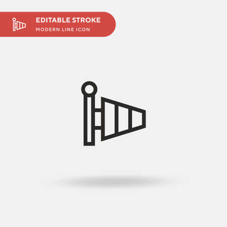 Wind Socket Simple vector icon. Illustration symbol design template for web mobile UI element. Perfect color modern pictogram on editable stroke. Wind Socket icons for your business project
