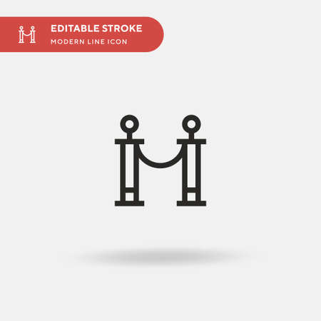 Queue Simple vector icon. Illustration symbol design template for web mobile UI element. Perfect color modern pictogram on editable stroke. Queue icons for your business project