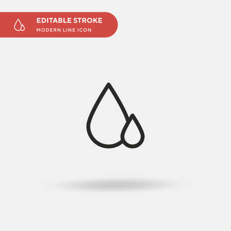 Water Drops Simple vector icon. Illustration symbol design template for web mobile UI element. Perfect color modern pictogram on editable stroke. Water Drops icons for your business project