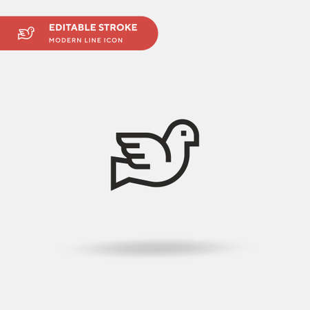 Dove Simple vector icon. Illustration symbol design template for web mobile UI element. Perfect color modern pictogram on editable stroke. Dove icons for your business project Vettoriali