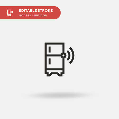 Refrigerator Simple vector icon. Illustration symbol design template for web mobile UI element. Perfect color modern pictogram on editable stroke. Refrigerator icons for your business project Vettoriali
