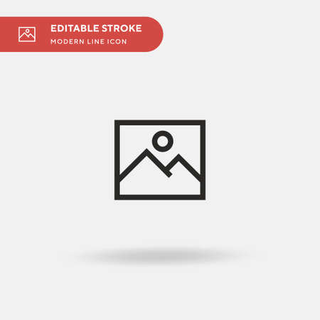 Image Simple vector icon. Illustration symbol design template for web mobile UI element. Perfect color modern pictogram on editable stroke. Image icons for your business project Vectores