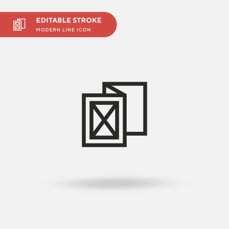 Brochure Simple vector icon. Illustration symbol design template for web mobile UI element. Perfect color modern pictogram on editable stroke. Brochure icons for your business project